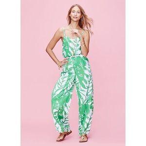 Lilly Pulitzer Boom Boom Green Leaf Jumpsuit